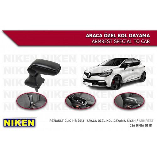 Renault CLIO 4 HB (2012-2019) Araca Özel Kol Dayama Siyah