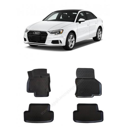 Audi A3 SEDAN (2013+) 3D Havuzlu Paspas Siyah