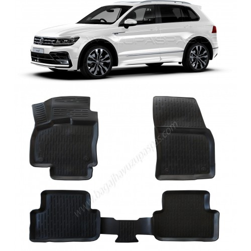 Volkswagen TIGUAN (2016+) 3D Havuzlu Paspas Siyah