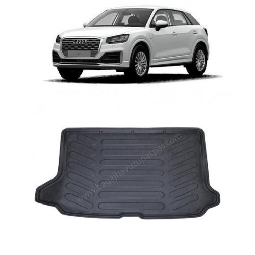 Audi Q2 (2016+) 3D Bagaj Havuzu Siyah