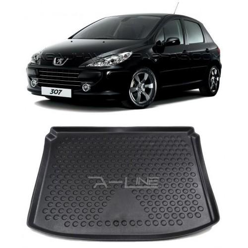 Peugeot 307 HB (2001-2008) 3D Bagaj Havuzu Siyah