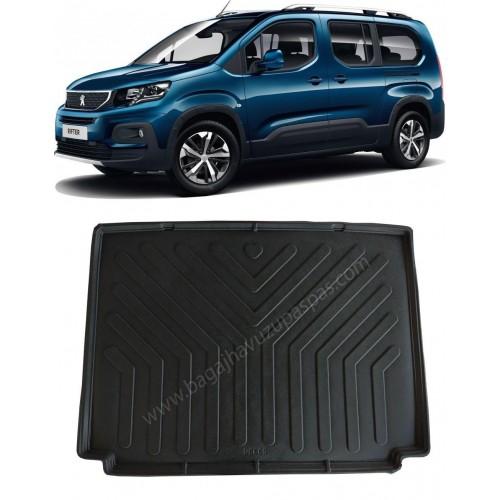 Peugeot RIFTER KOLTUKLU VAN (2019+) Bagaj Havuzu Siyah