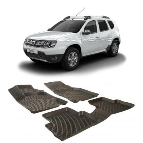 Dacia DUSTER 4X2 (2010-2017) Havuzlu Paspas Siyah