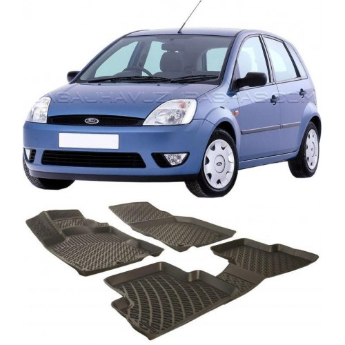 Ford FİESTA 2002-2008 3D Havuzlu Paspas Siyah