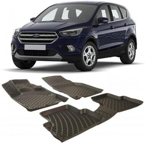 Ford KUGA (2013+) 3D Havuzlu Paspas Siyah