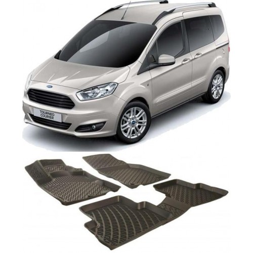 Ford COURIER KOLTUKLU VAN (2014+) 3D Havuzlu Paspas Siyah