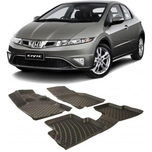 Honda CIVIC HB (2006-2011) 3D Havuzlu Paspas Siyah