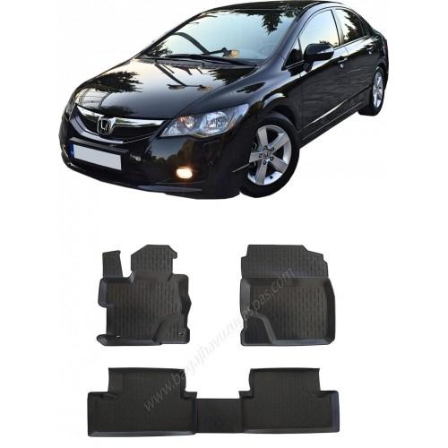 Honda CIVIC SEDAN (2007-2011) Havuzlu Paspas Siyah