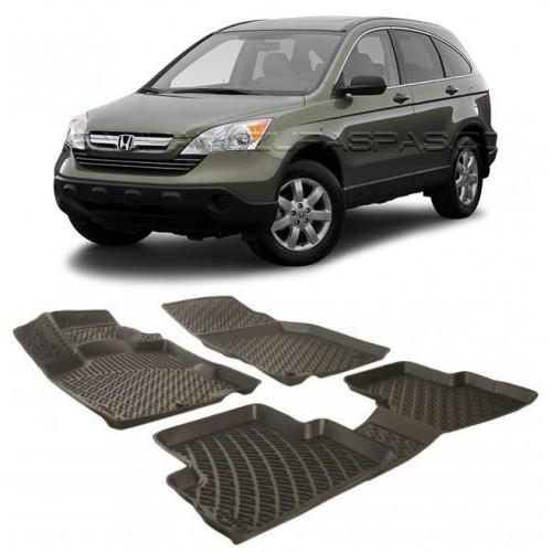 Honda CRV 4X4 SUV 2007-2012 3D Havuzlu Paspas Siyah