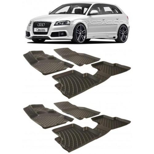 Audi A3 SPORTBACK (2006-2012) 3D Havuzlu Paspas Siyah