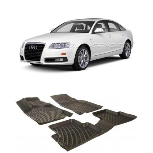 Audi A6 SEDAN 2005-2010 3D Havuzlu Paspas Siyah