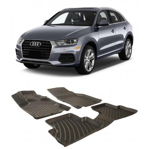 Audi Q3 2011-2020 3D Havuzlu Paspas Siyah