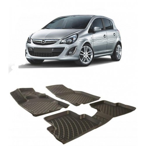 Opel CORSA D  (2007-2014) 3D Havuzlu Paspas Siyah