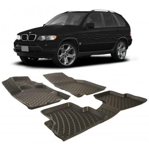 Bmw X5 E53 2000-2006 3D Havuzlu Paspas Siyah