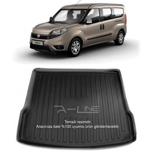 Fiat Doblo Maxi (2010+) 3D Bagaj Havuzu Siyah