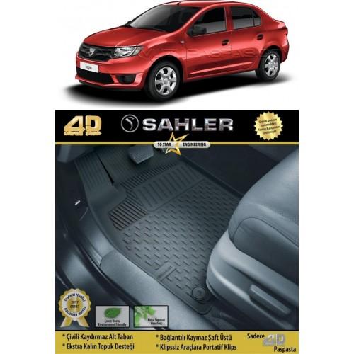Dacia LOGAN SEDAN (2005+) Sahler 4.5D Havuzlu Paspas Siyah