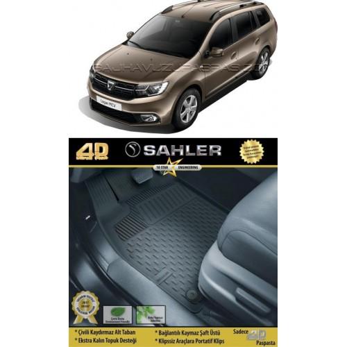 Dacia LOGAN MCV ( 5 KOLTUK ) (2014+) 4.5D Havuzlu Paspas Siyah
