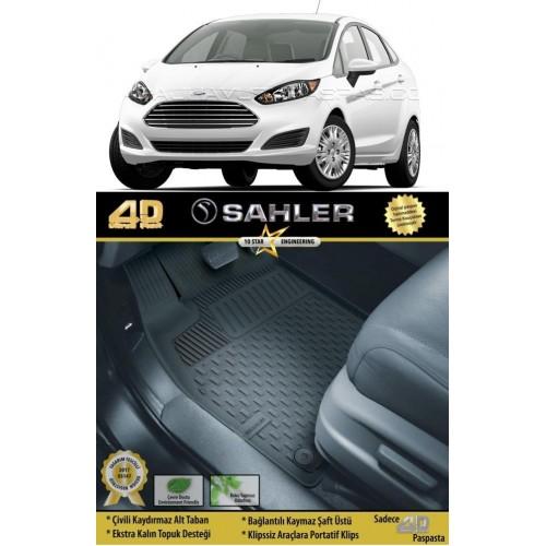 Ford FİESTA  (2008-2017) Sahler 4.5D Havuzlu Paspas Siyah