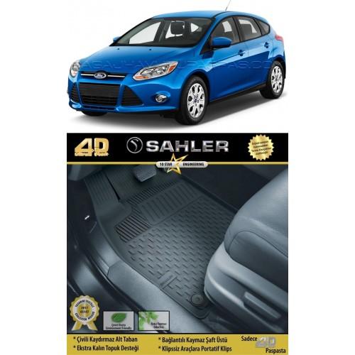 Ford FOCUS 3 HB (2011-2014) Sahler 4.5D Havuzlu Paspas Siyah
