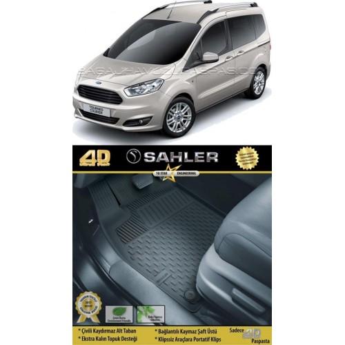 Ford COURIER KOLTUKLU VAN (2014+) Sahler 4.5D Havuzlu Paspas Siyah