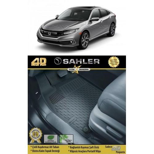 Honda CIVIC SEDAN 2016-2020 Sahler 4.5D Havuzlu Paspas Siyah