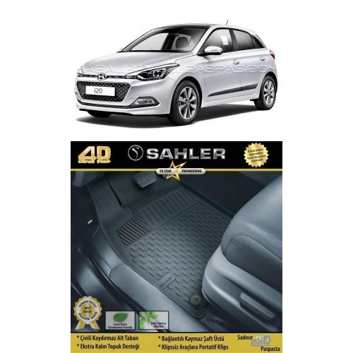 Hyundai İ20  (2014+) Sahler 4.5D Havuzlu Paspas Siyah