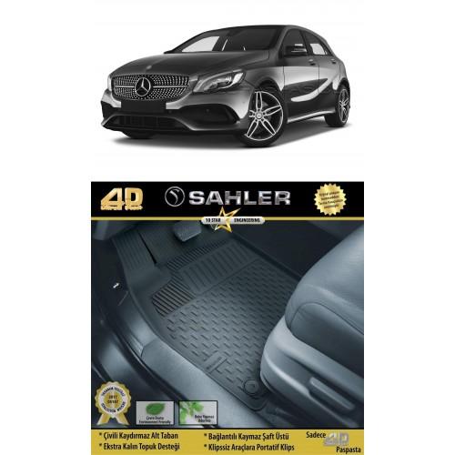Mercedes A SERİ (2013-2017) Sahler 4.5D Havuzlu Paspas Siyah