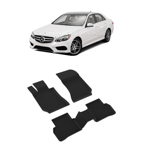 Mercedes E SERİ W212 2010-2015 Sahler 4.5D Havuzlu Paspas Siyah