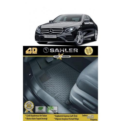Mercedes E SERİ W213 (2016+) Sahler 4.5D Havuzlu Paspas Siyah