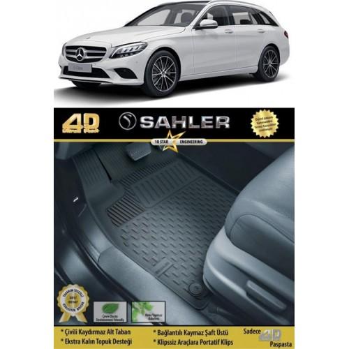 Mercedes C SERİ S205 STW (2014+) Sahler 4.5D Havuzlu Paspas Siyah
