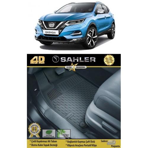 Nissan QASHQAI 5 KOLTUK (2014+) Sahler 4.5D Havuzlu Paspas Siyah