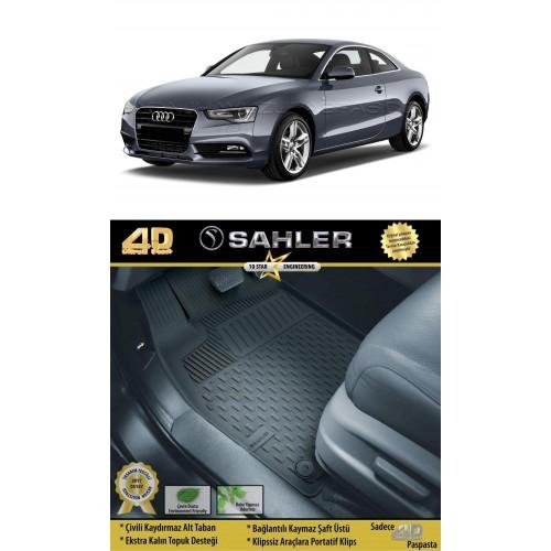 Audi A5 COUPE (2008-2015) Havuzlu Paspas Siyah