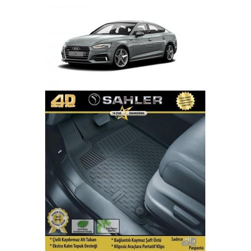 Audi A5 SEDAN (2016+) Sahler 4.5D Havuzlu Paspas Siyah
