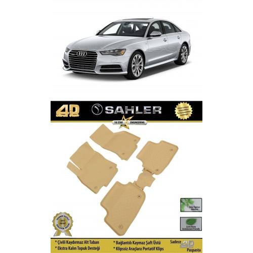 Audi A6 SEDAN (2013+) 4.5D Havuzlu Paspas Bej