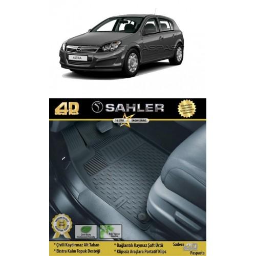 Opel ASTRA H HB (2004-2010) 4.5D Havuzlu Paspas Siyah