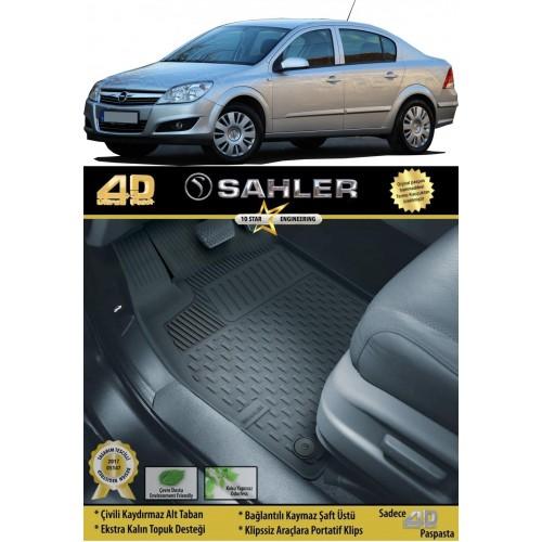 Opel ASTRA H SEDAN (2007-2015) Sahler 4.5D Havuzlu Paspas Siyah