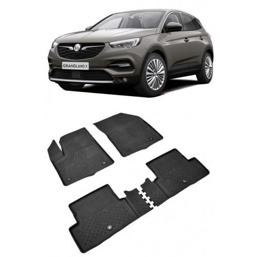 Opel GRANDLAND X (2017+) Sahler 4.5D Havuzlu Paspas Siyah