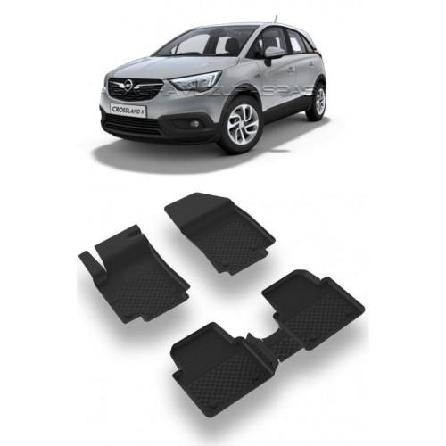 Opel CROSSLAND X 2017-2020 Sahler 4.5D Havuzlu Paspas Siyah