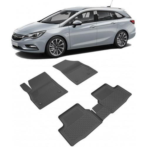 Opel ASTRA K SPORTS TOURER - STW (2016+) 4.5D Havuzlu Paspas Siyah