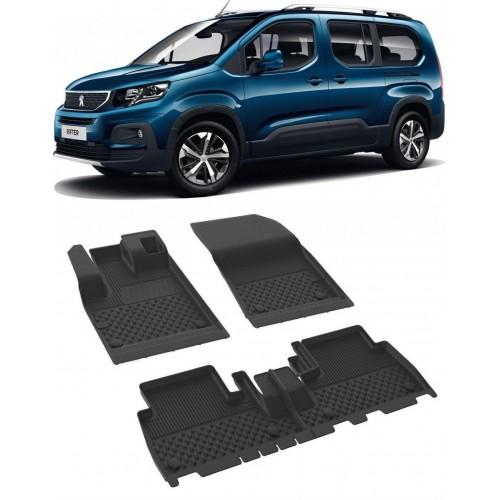 Peugeot RIFTER 2019-2020 Sahler 4.5D Havuzlu Paspas Siyah