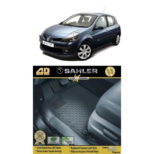 Renault CLİO 3 HB (2006-2012) 4.5D Havuzlu Paspas Siyah