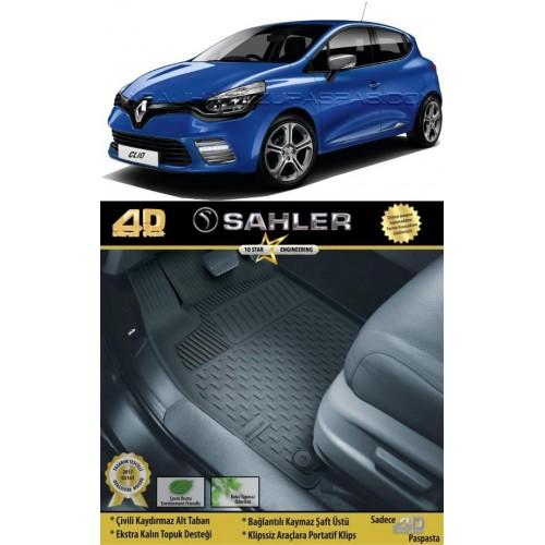 Renault CLIO 4 HB (2012+) 4.5D Havuzlu Paspas Siyah