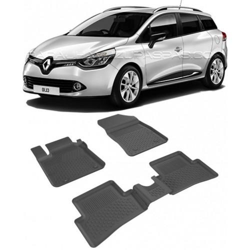 Renault CLIO 4 SPORT TOURER 2013-2020 Sahler 4.5D Havuzlu Paspas Siyah