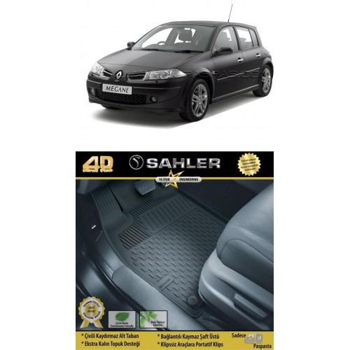 Renault MEGANE 2 HB (2004-2009) 4.5D Havuzlu Paspas Siyah