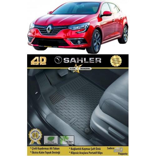 Renault MEGANE 4 HB (2016+) Sahler 4.5D Havuzlu Paspas Siyah