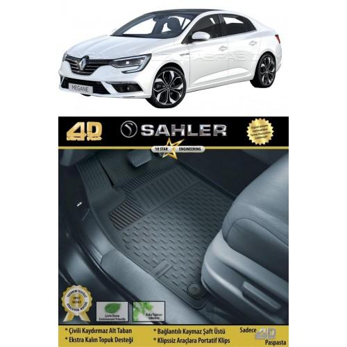 Renault MEGANE 4 SEDAN 2016-2020 Sahler 4.5D Havuzlu Paspas Siyah