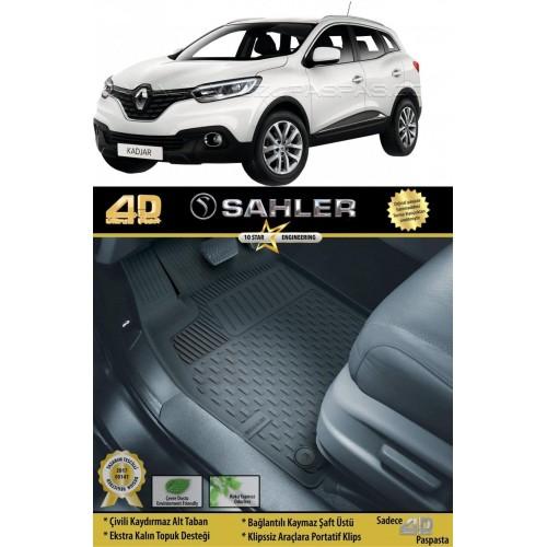 Renault KADJAR (2015+) 4.5D Havuzlu Paspas Siyah