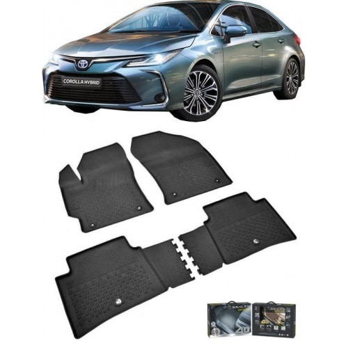 Toyota COROLLA SEDAN 2019-2020 Sahler 4.5D Havuzlu Paspas Siyah