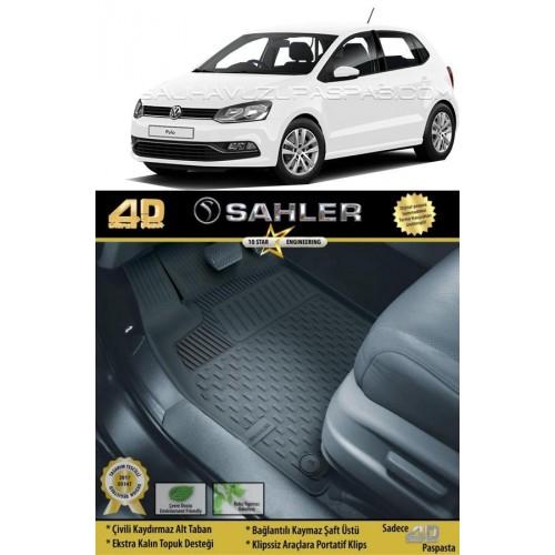 Volkswagen POLO (2010-2017) Sahler 4.5D Havuzlu Paspas Siyah