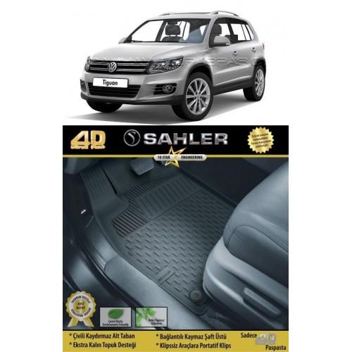 Volkswagen TIGUAN 2007-2015 Sahler 4.5D Havuzlu Paspas Siyah